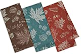 Design Imports Fall Foilage Jacquard Dishtowels (Set of 3)