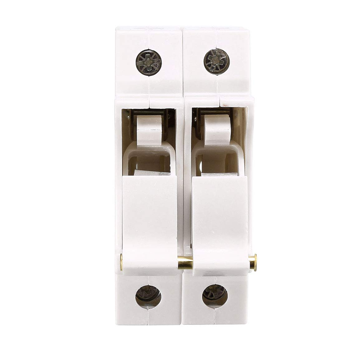 uxcell DIN Rail Mount Fuse Holder 3 Pole RT18-32 10mmx38mm with Indicator Light Gray