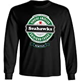 4u4design Football- Long Sleeve Seahawks Beer Shirt - Sizes up to 6XL