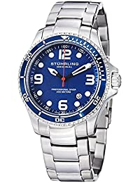 "Watches Mens ""Specialty Grand Regatta"" Stainless Steel Professional Swiss Quartz Dive Watch"