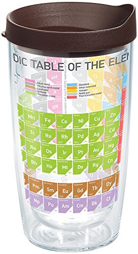 Tervis 1269059 The Periodic Table of Elements Tumbler with Wrap and Brown Lid 16oz, ()