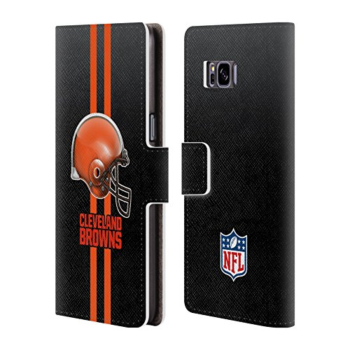Helmet Brown Case (Official NFL Helmet Cleveland Browns Logo Leather Book Wallet Case Cover For Samsung Galaxy S8)