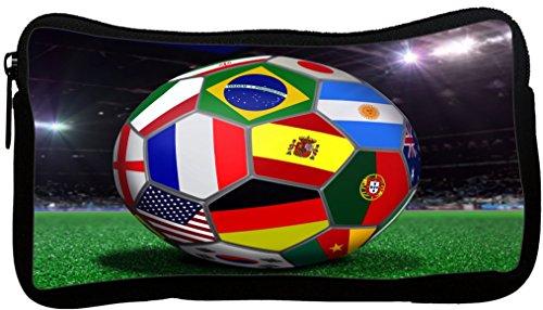 Rikki Knight Brazil World Cup 2014 All Team Flags Football Soccer Ball Neoprene Pencil Case (dky-Neo-pc44249)