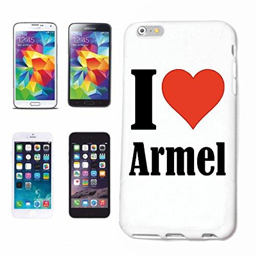 """Handyhülle iPhone 4 / 4S """"I Love Armel"""" Hardcase Schutzhülle Handycover Smart Cover für Apple iPhone … in Weiß … Schlank und schön, das ist unser HardCase. Das Case wird mit einem Klick auf deinem Sma"""