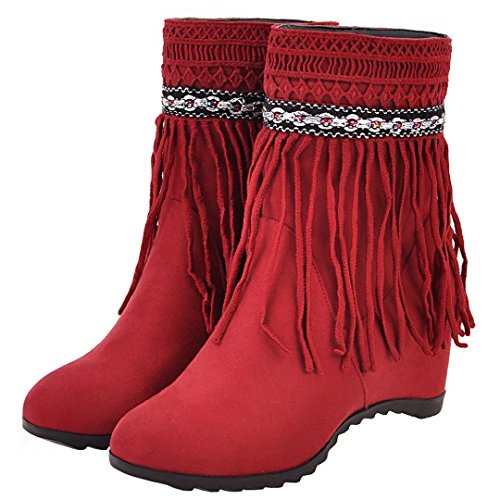 AIYOUMEI Women's Classic Boot Red mDjgHcpt