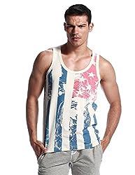 SEOBEAN Mens Hot Sleeveless Vest Tank Top Tee T-shirts (XL, 2463)