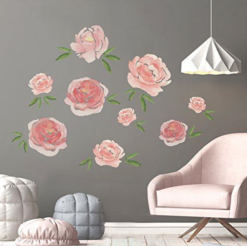 Better Than Paint E116374 Faster & Easier Than Stenciling, Painting Or Wallpaper: This Is Not A Decal, This Is An Art Transfer Watercolor Blooms Wall Décor Fast & Easy, Pink by Better Than Paint (Image #2)