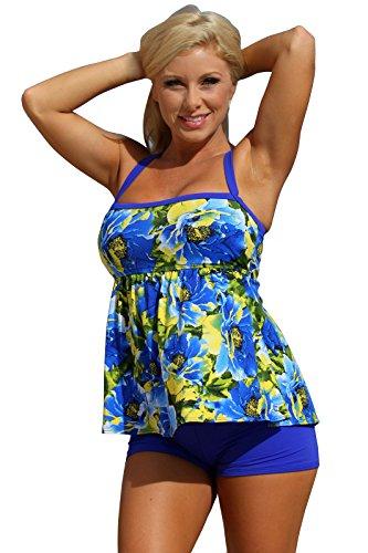 Ujena Royal Islands Tankini Plus Bikini - Top: 2X & Bottom: 3X