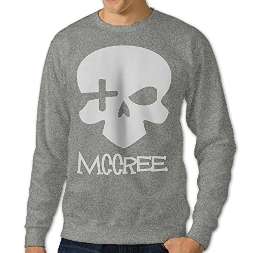 PTCY Men's Ow Mccree Skull Crew - Neck