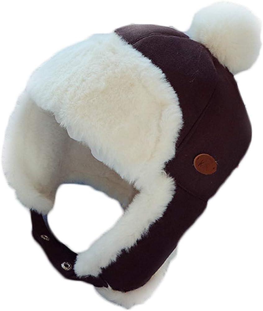 KN Accessories Childrens Baby Hat Boy Aviator Winter Earflap Cap Girls Plush Hat Warm