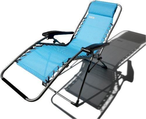 Amazon Com Strathwood Basics Anti Gravity Adjustable Recliner Chair  Caribbean Blue Patio Lounge Chairs Patio Lawn GardenAmazon Com Strathwood  Basics Anti ...