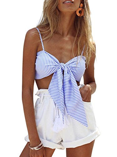Simplee Apparel Womens Striped Bustier product image