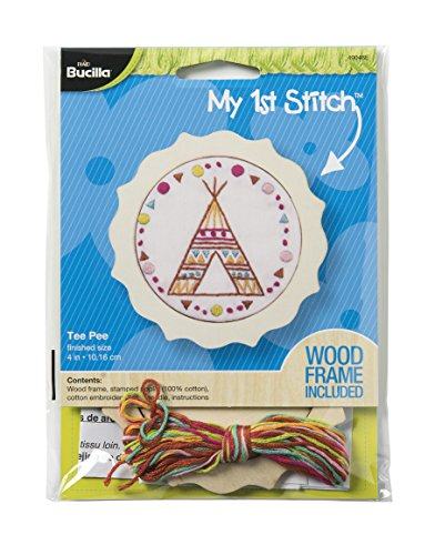 Bucilla 49048E My 1st Stitch Stamped Embroidery Kit, 4