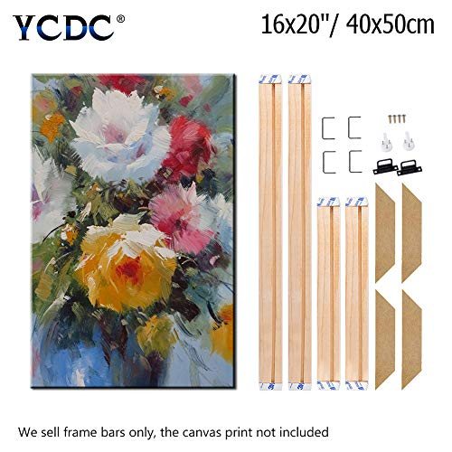 (Canvas Wood Stretcher Bars Painting Wooden Frames for Gallery Wrap Oil Painting Posters, Modern Life Accessory, 16