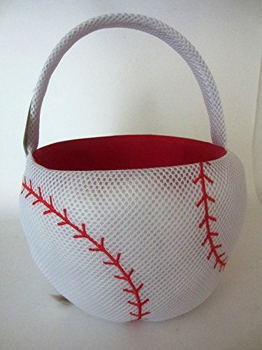 Plush Baseball Easter Basket or Halloween Basket -