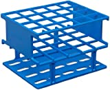 Nalgene 5972-0320 Acetal Plastic Unwire Test Tube Half Rack for 20mm Test Tubes, Blue