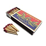 Matches fire wood stick for kitchen, collectible, safery strike on box - Pack of 2 boxes (180 sticks x2 = 360 sticks)