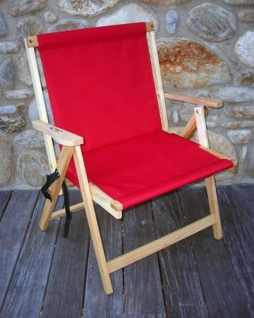Blue Ridge Extra Large Folding Deck Chair in Red
