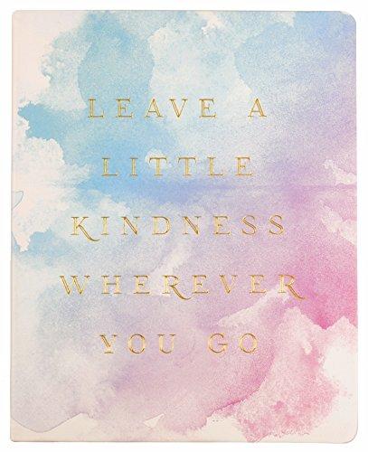 "Eccolo World Traveler Desk Size Journal, 8 x 10"", Watercolor - Leave a Little Kindness (D505Z)"