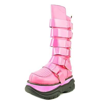 d1afef4728a Demonia Neptune-310UV Women US 11 Pink Mid Calf Boot