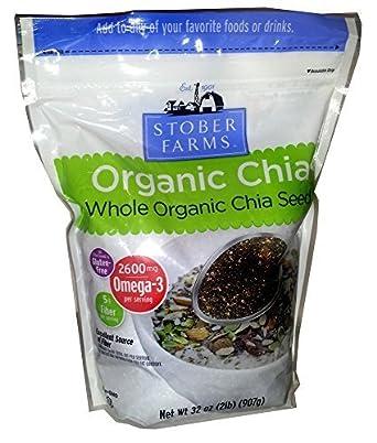 Stober Farms – Semillas de chia orgánicas enteras, 12.6 lbs ...
