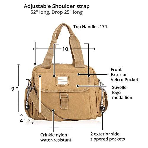 Multi Bag Lightweight Everyday Go Go Messenger Marrone Handbag 1508 Crossbody Shoulder Suvelle Pocket Travel Fx8R0qwdn