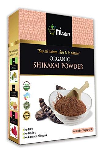Usda Certified Organic Shikakai Powder 227g/0.5 LB - Acacia concinna -Natural Hair Cleanser & Conditioner - Care for dandruff & thinning hair - Alleviates itchy scalp - Replaces shampoo & conditioner, (Powder Shikakai Amla)
