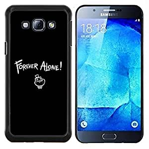 For Samsung Galaxy A8 A8000 Case , Siempre solo LOL- Diseño Patrón Teléfono Caso Cubierta Case Bumper Duro Protección Case Cover Funda