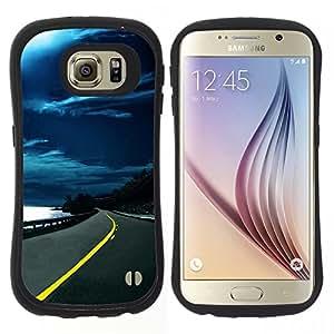 "Hypernova Slim Fit Dual Barniz Protector Caso Case Funda Para Samsung Galaxy S6 [Naturaleza Hermosa Forrest Verde 151""]"