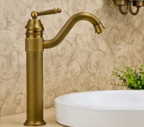 洗面器の蛇口、真鍮の熱いそして冷たい単一のハンドルMonoblocの蛇口、ヨーロッパのレトロの古典的な蛇口、浴室のシンクの蛇口 洗面器の蛇口 (Size : 34cm)