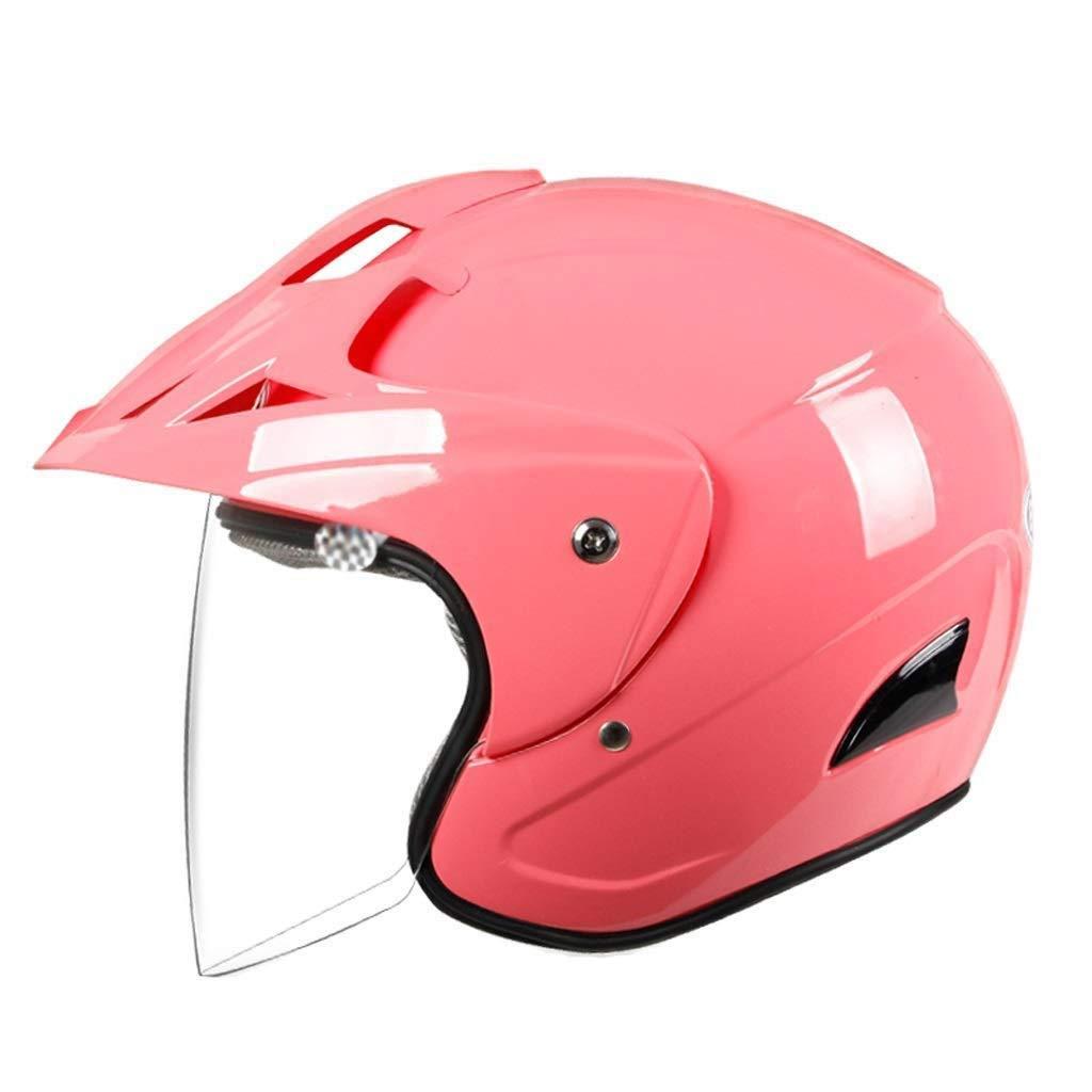 格安販売の MGIZ MGIZ ヘルメット電動バイクヘルメット女性男性冬暖かい普遍的な車の性格半分覆われた防曇ヘルメット ピンク ピンク B07Q2X3827, 真子質店:7873764a --- irlandskayaliteratura.org
