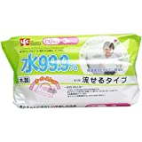PURE WATER Flushable Baby Wipes - 180ct
