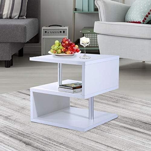 Nuofake Tavolino da Salotto 50 x 50 x 50 cm, Colore Bianco