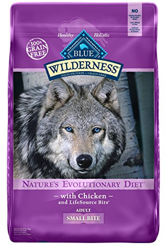 Bites Dry Food - Blue Buffalo Wilderness High Protein Grain Free, Natural Adult Small-Bite Dry Dog Food, Chicken 24-lb