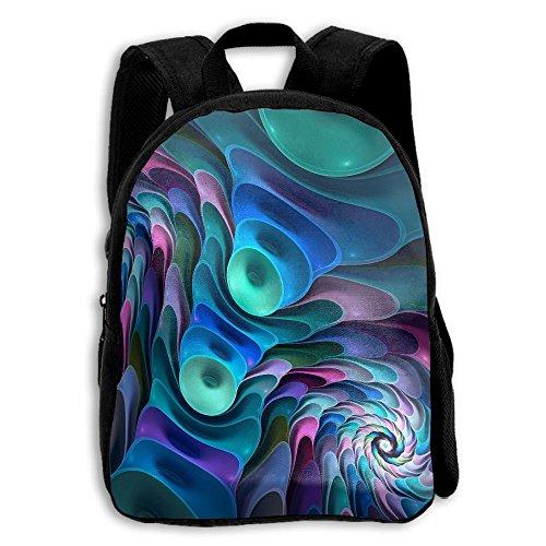 - FIDALJF Abstract Color Vortex Digital Children's Backpack Little Kid School Bag With Adjustable Shoulders Ergonomic Back Pad Perfect For School, Security, Sporting Events