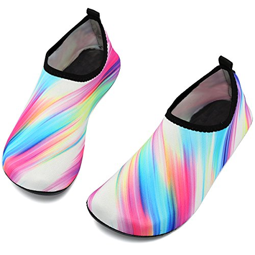for Women Socks Colorful White Kids Sports Slip Shoes Quick Aqua Barefoot Men Yoga Water VIFUUR on Dry PBxwqWUUO