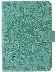 HICYCT Etui na Amazon kindle Paperwhite 1/2/3/4, wysokiej jakości skórzana osłona, z funkcją automatycznego budzenia/snu, zamknięciem magnetycznym, przegródkami na karty, do tabletu Amazon kindle Paperwhite 1/2/3/4 - zielony