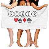Poker Game Funny Unisex Fashion Towel Personalized Print Beach Towels