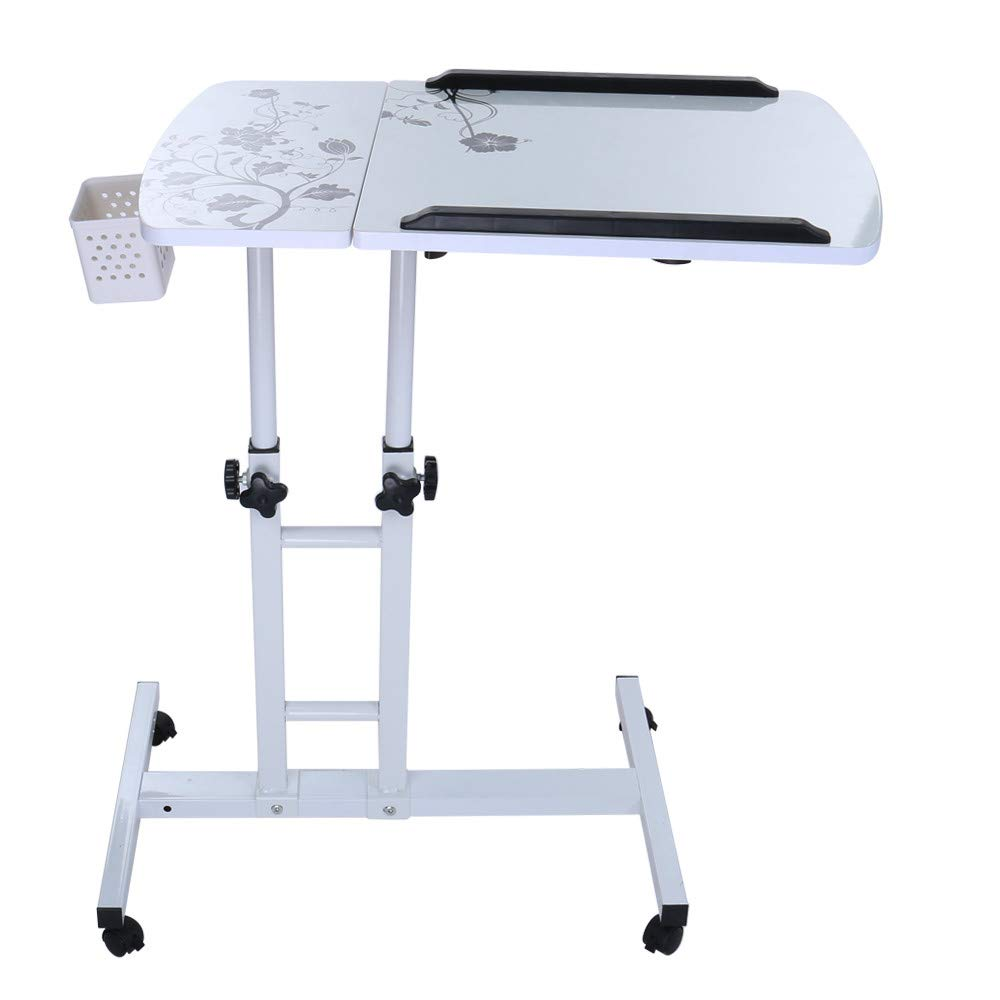 Computer Table Fashion Folding Lift Rotating Bedside Mobile Laptop Desk 17.32inch×15.75inch, Shipped from US by JPOQW (Image #1)