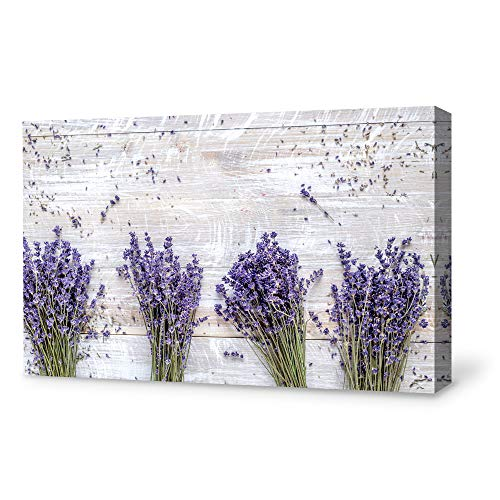 SIGNFORD Canvas Wall Art for Living Room,Bedroom Home Artwork Paintings Romantic Lavender Ready to Hang – 32×48 inches