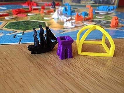 Ten Talents Trading Build3D - Piezas de Repuesto para Caballeros de Catan Cities de Metropolis: Amazon.es: Juguetes y juegos