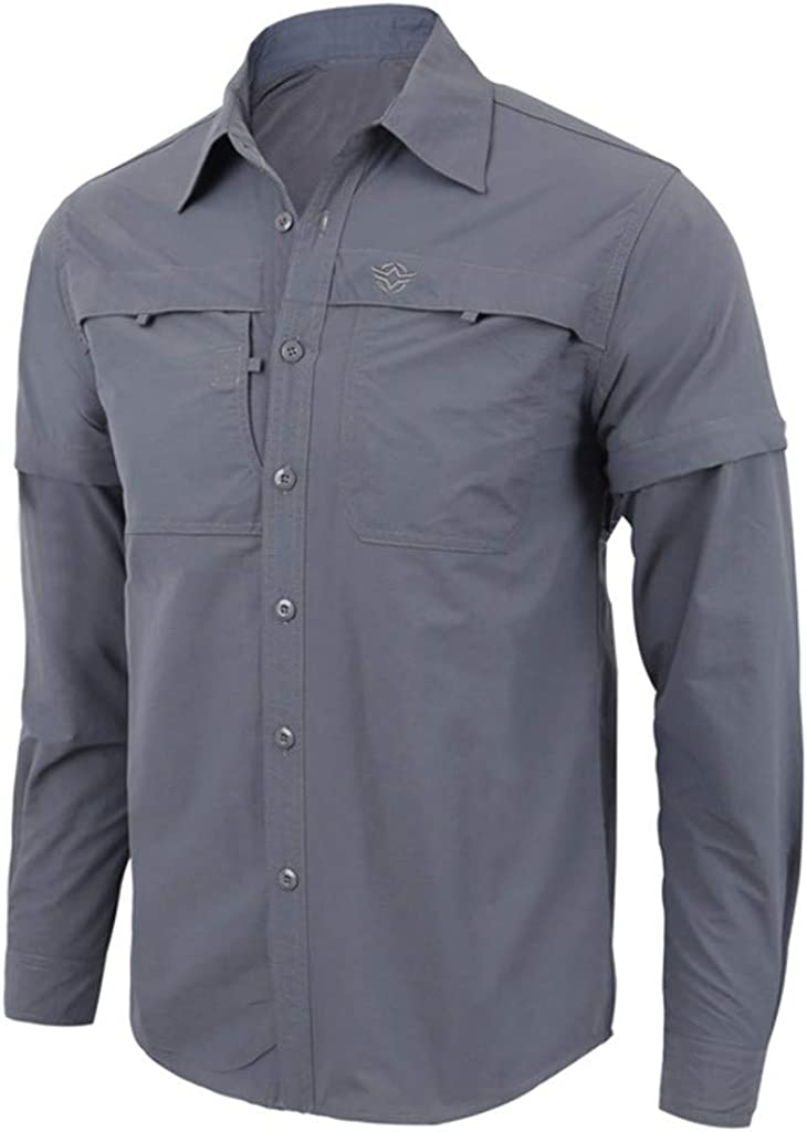 Cool1980s Mens Handsome Military Solid Button Down Shirt Quick-Drying