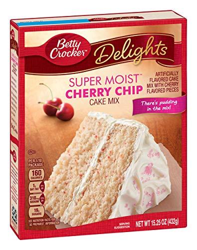 Betty Crocker Super Moist Cake Mix Cherry Chip 15.25 oz Box (Cherry Cake Mix)