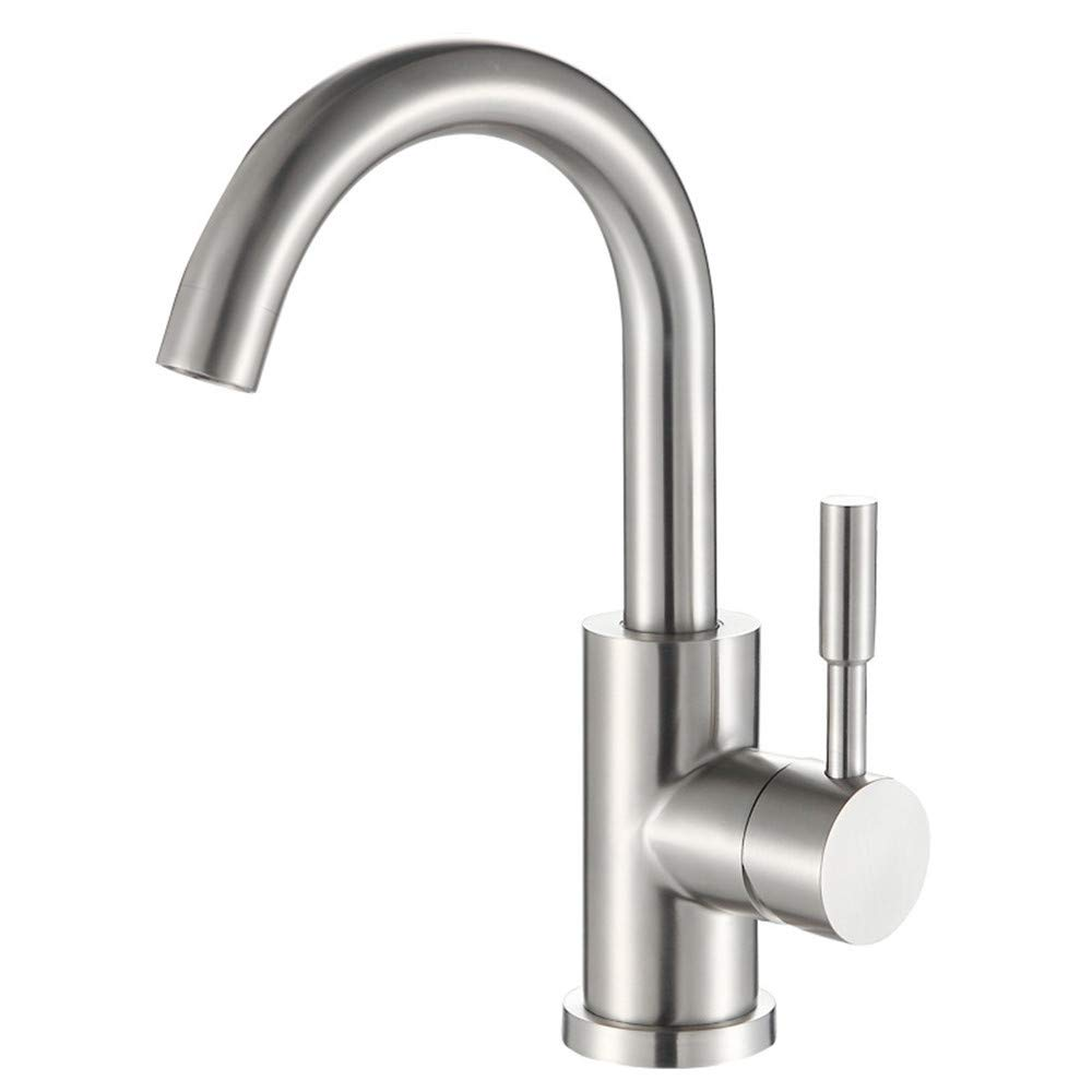 Decorry 304 Stainless Steel Hot and Cold Basin Taps Bathroom Basin Faucet WashbasinS65-UE6589321744