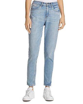 Calvin At Women's Jeans Klein pale Denim Mom 29 Indigo rzwfrvq7Ox