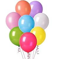 Aookey 100 Pz Palloncini Colorati per Party, Compleanni, Matrimoni, Decorazione - 30 cm Palloncini in Lattice