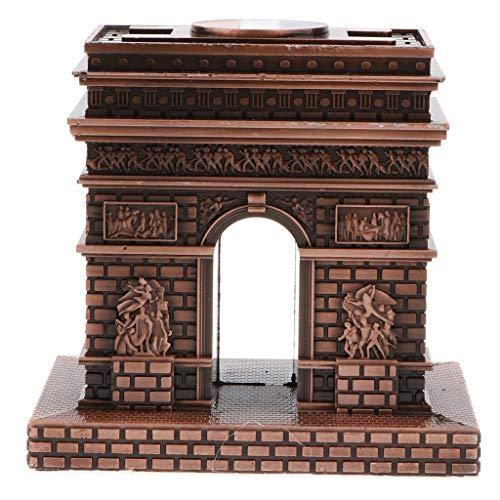 MagiDeal Vintage Triumphal Arch Famous Landmark Building Architecture Model Metal Collectible Souvenir Decorative Gift by Unknown