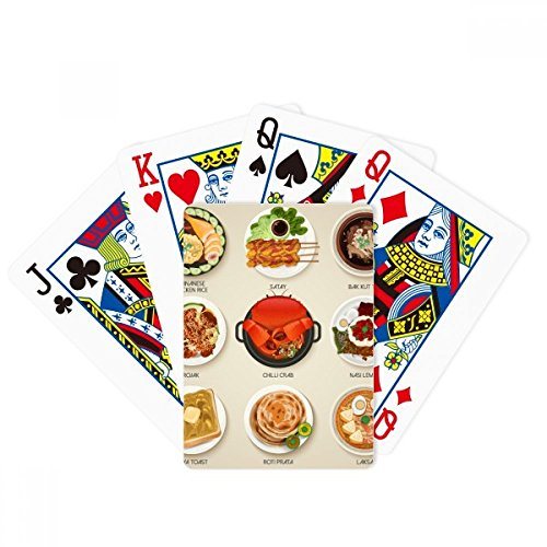 beatChong Traditional Singapore Tasty Dishes Poker Playing Card Tabletop Board Game Gift by beatChong