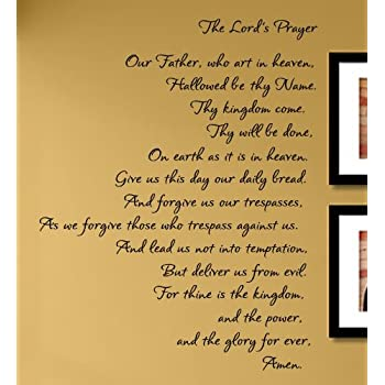 Amazon.com: The Lord\'s Prayer Vinyl Wall Decals Quotes Sayings Words ...