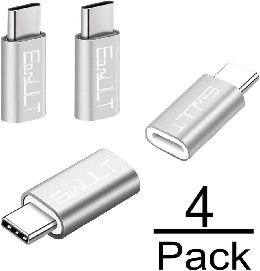 EasyULT Adaptador USB C, 4 Pack Adaptador USB Type C a Micro USB ...
